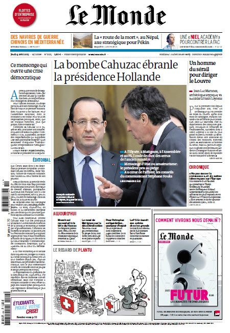 Le Monde Jeudi 04 Avril 2013