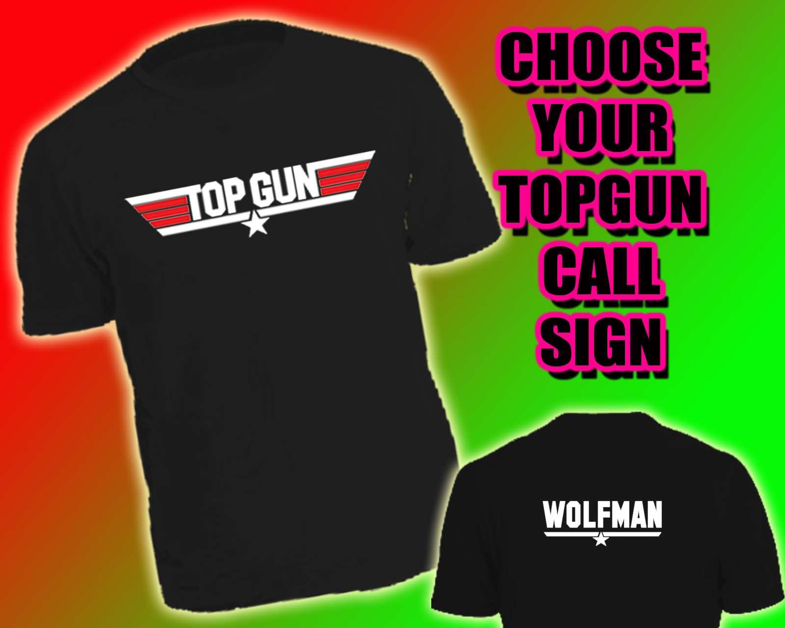 TOP-GUN-T-SHIRT-Stag-Do-Maverick-All-Names-Hollywood-BNWT-topgun-fancy-dress