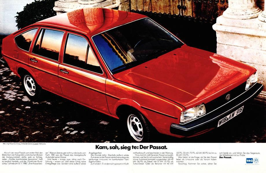 Kam, sah, sieg te: der Volkswagen Passat.