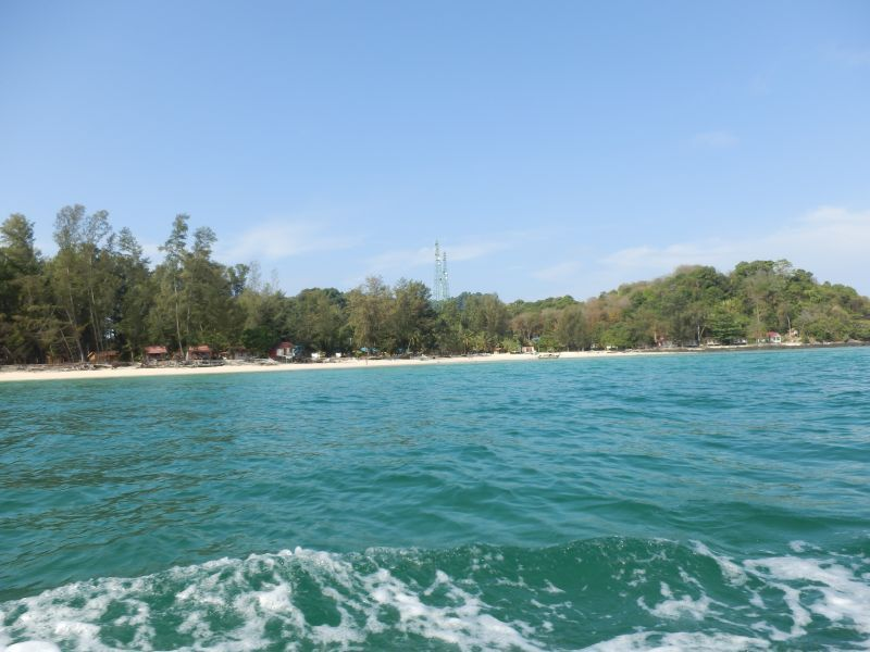 Rückblick auf den Strand am Bulone Resort