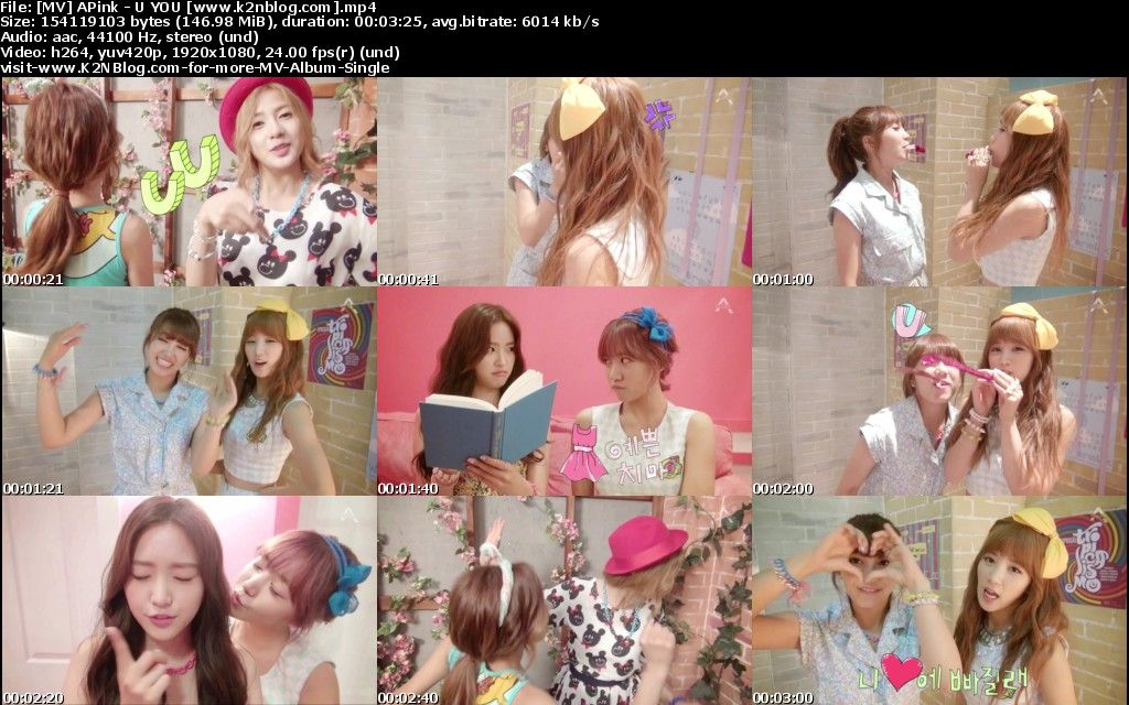(MV) APink - U YOU (HD 1080p Youtube)