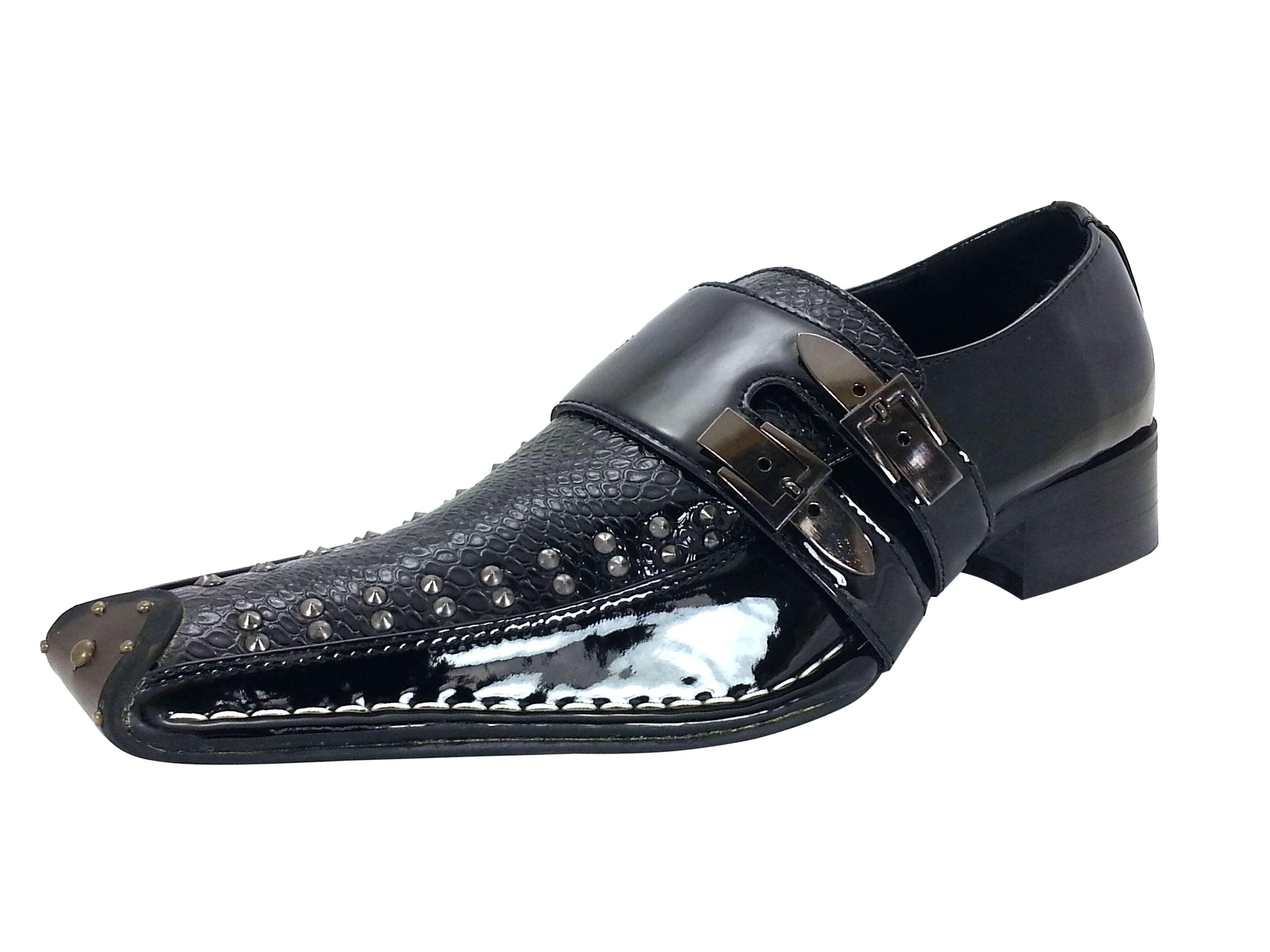 mens dress shoes slip on loafers black goldenhorse fashion