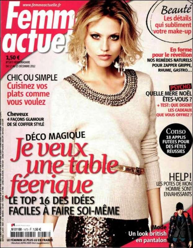 Femme Actuelle N°1473 du 17 au 23 Décembre 2012